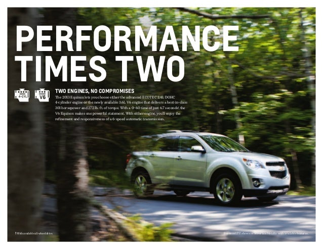 2013 Chevrolet Equinox Brochure | South Jersey Chevrolet ...