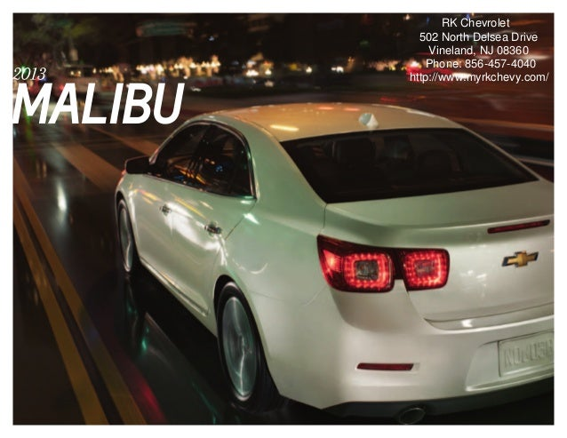 2013 Chevrolet Malibu Brochure | South Jersey Chevrolet Dealer