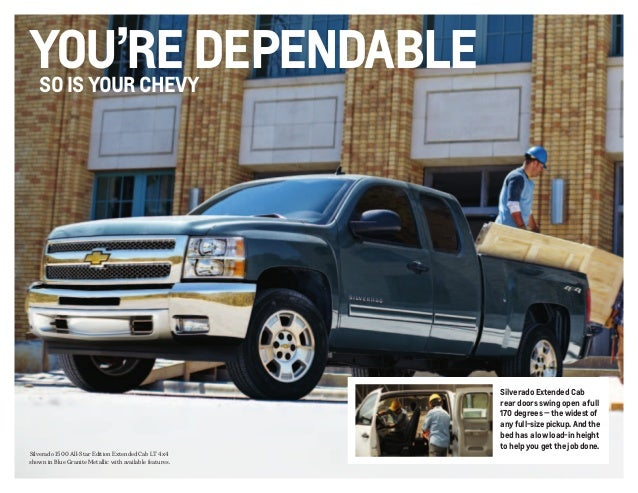 2013 chevrolet silverado brochure south jersey chevrolet dealer. Black Bedroom Furniture Sets. Home Design Ideas