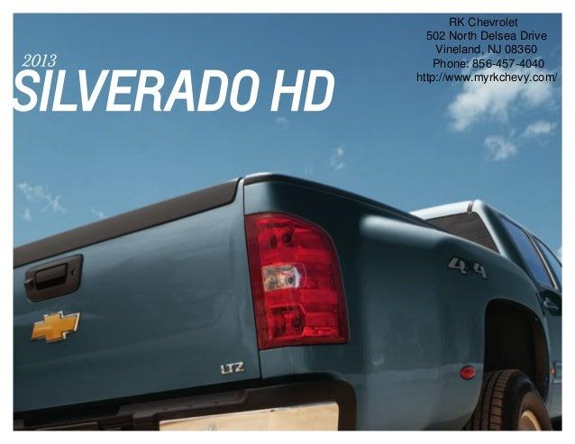 2013 Chevrolet Silverado HD Brochure | South Jersey ...