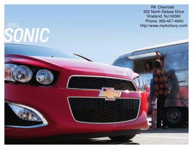 2013 Chevrolet Sonic Brochure   South Jersey Chevrolet Dealer
