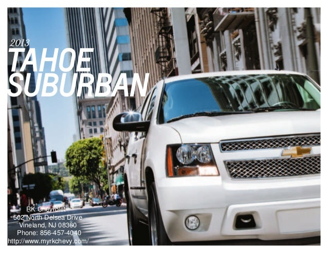 2013 chevrolet tahoe brochure south jersey chevrolet dealer. Black Bedroom Furniture Sets. Home Design Ideas