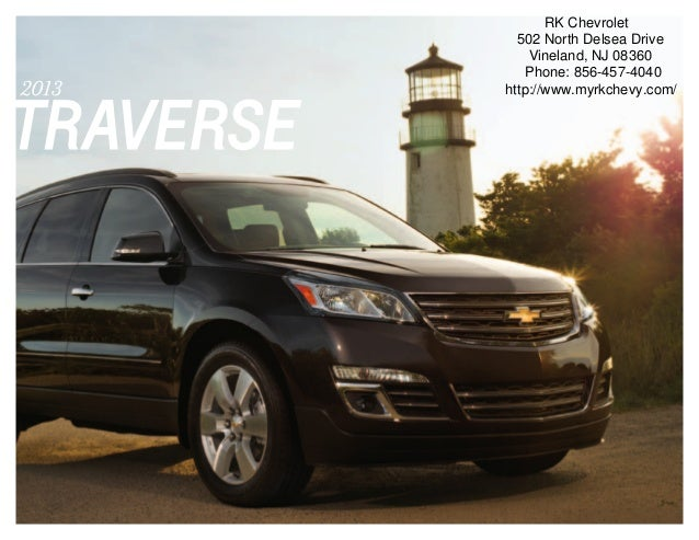 2013 Chevrolet Traverse Brochure | South Jersey Chevrolet Dealer