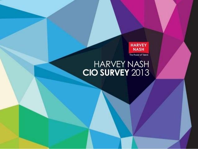 HARVEY NASHCIO SURVEY 2013