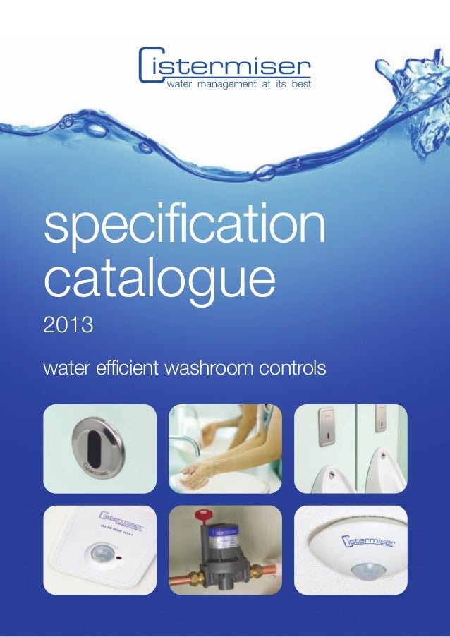 specificationcatalogue2013water efficient washroom controls