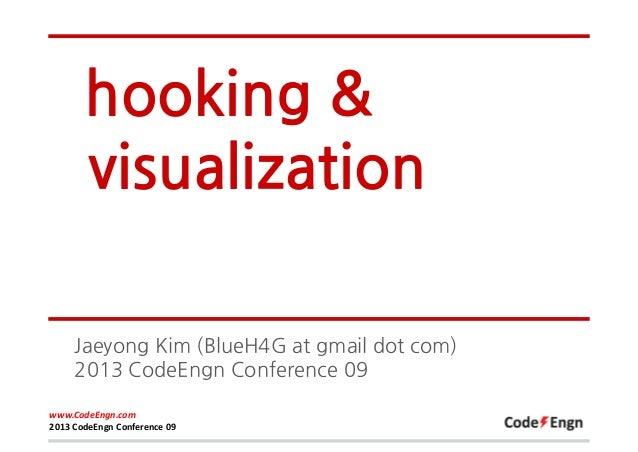 hooking & visualization Jaeyong Kim (BlueH4G at gmail dot com) 2013 CodeEngn Conference 09 www.CodeEngn.com 2013 CodeEngn ...
