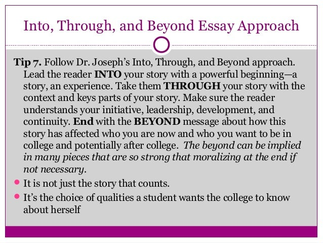 how to write a powerful college essay
