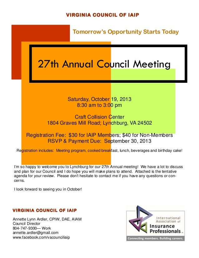 2013 council meeting flyer