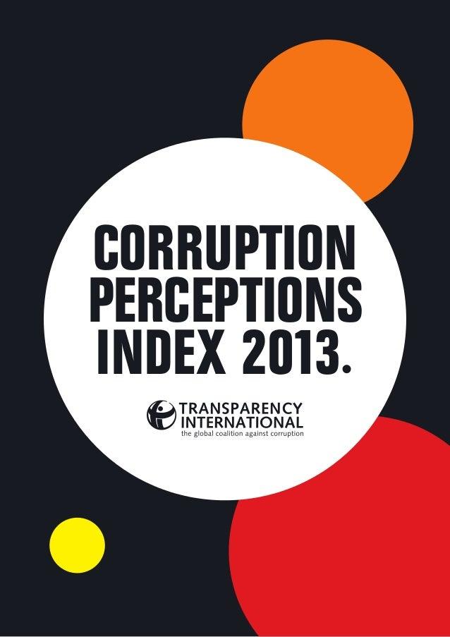 CORRUPTION PERCEPTIONS INDEX 2013.