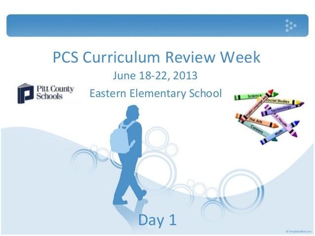 PCS Curriculum Review WeekDay 1June 18-22, 2013Eastern Elementary School