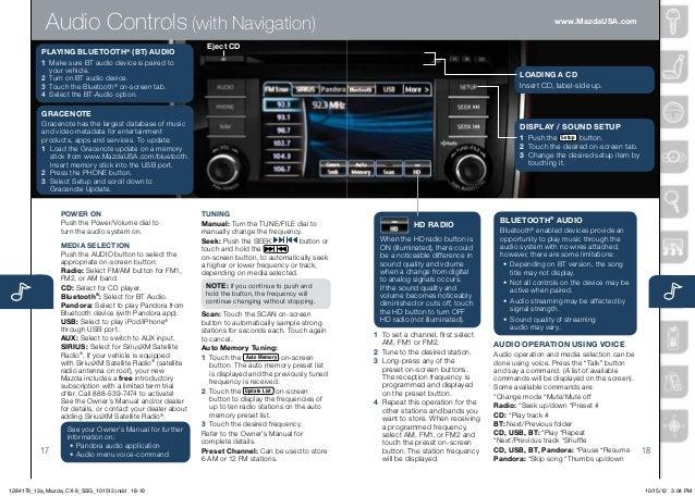 2013 Mazda Cx 9 Smart Start Guide