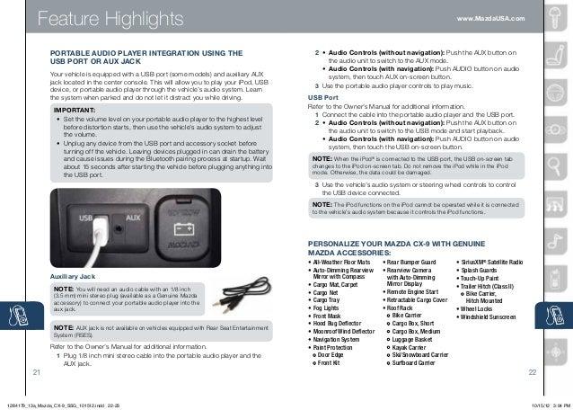 2013 mazda cx 9 smart start guide rh slideshare net 2015 Mazda CX -5 Changes Mazda CX -3