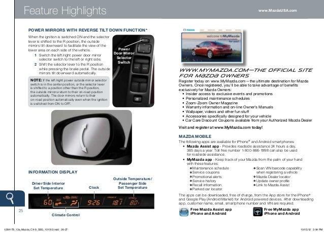 2013 mazda cx 9 smart start guide rh slideshare net CX-9 Interior CX-9 Interior