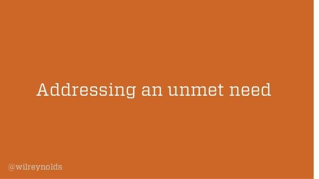 Addressing an unmet need  @wilreynolds