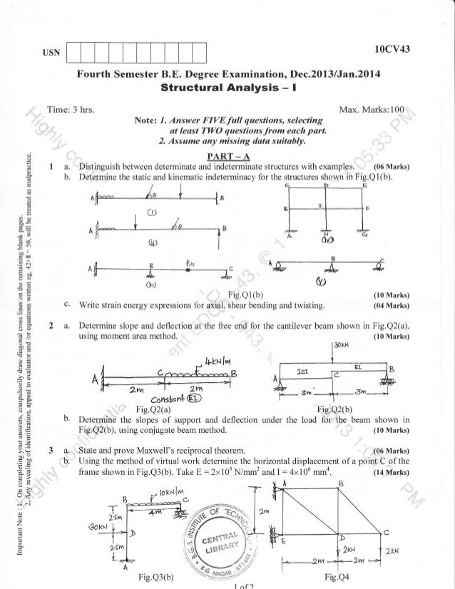 4th Semester Civil Engineering (2013-December) Question Papers