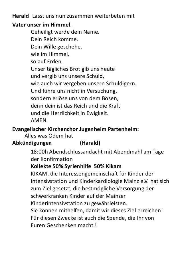 ansprache konfirmation