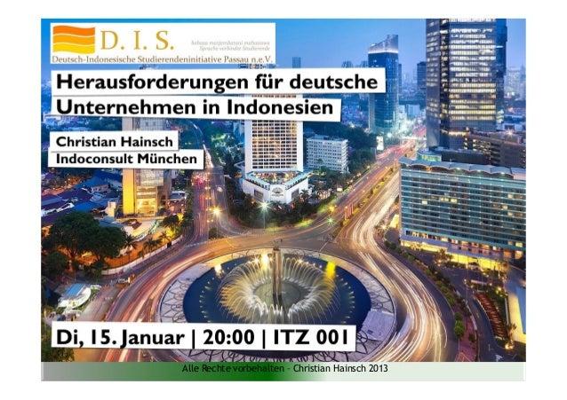 Alle Rechte vorbehalten – Christian Hainsch 2013