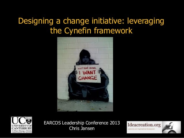 Designing a change initiative: leveraging the Cynefin framework  EARCOS Leadership Conference 2013 Chris Jansen  1