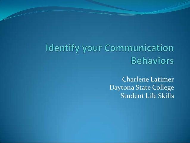 Charlene Latimer Daytona State College Student Life Skills