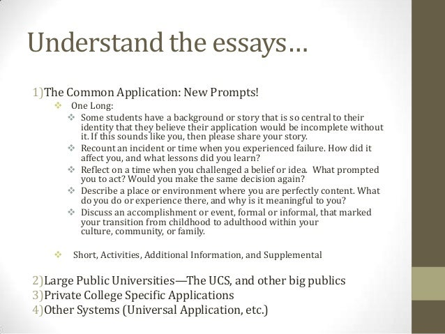 college common application essays 2013