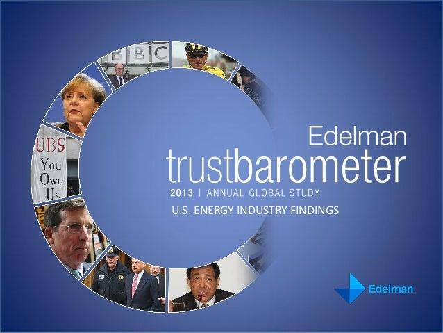 U.S. ENERGY INDUSTRY FINDINGS