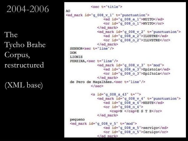 The Tycho Brahe Corpus, restructured (XML base) 2004-2006