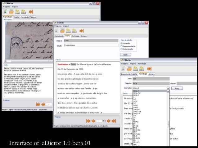 Interface of eDictor 1.0 beta 01