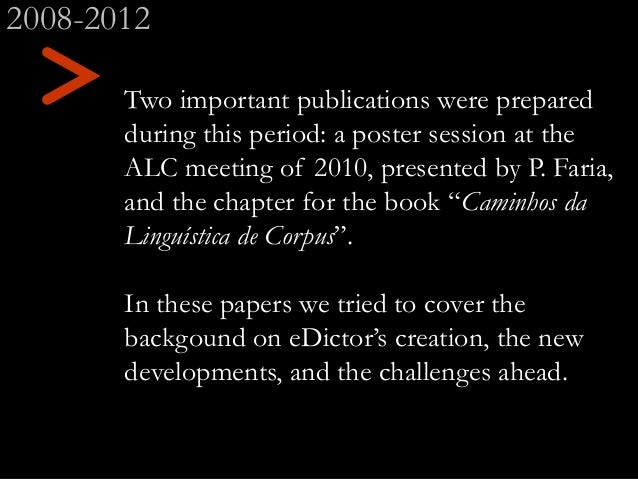 Two important publications were prepared during this period: a poster session at the ALC meeting of 2010, presented by P. ...