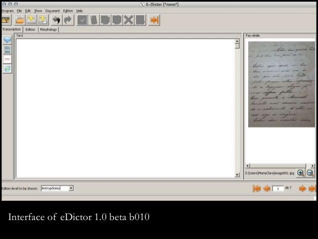 Interface of eDictor 1.0 beta b010
