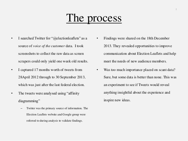2013 Election Leaflets Twitter Analysis Slide 2