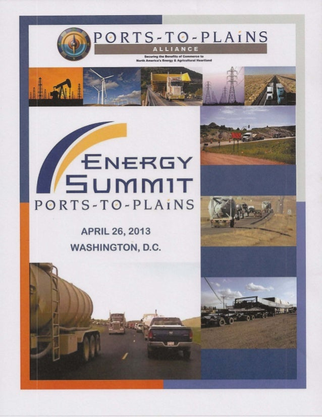 2013 Ports-to-Plains Alliance Energy Conference Handouts