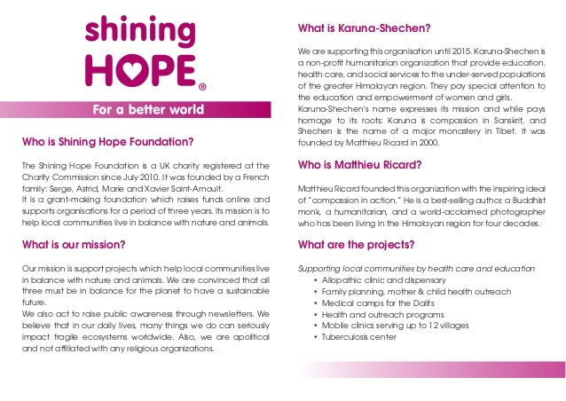 What is Karuna-Shechen?                                                                        We are supporting this orga...