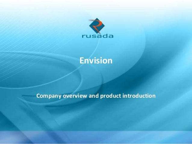 Envision  Company overview and product introduction