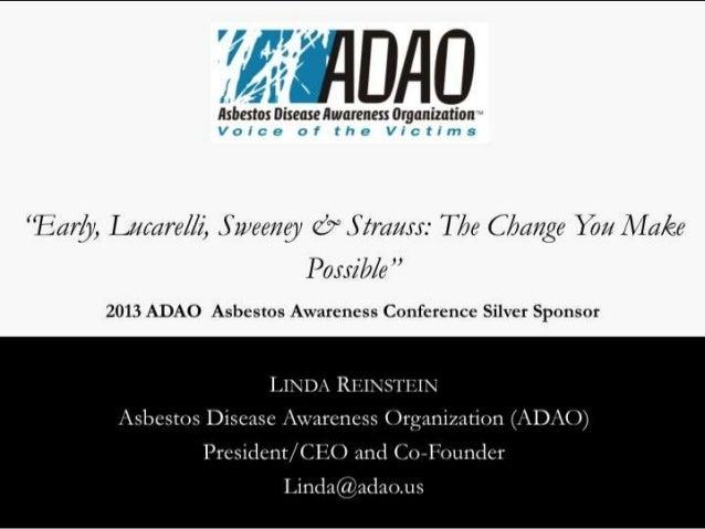 2013 ADAO Silver Sponsor: Early, Lucarelli, Sweeney & Strauss Law Firm