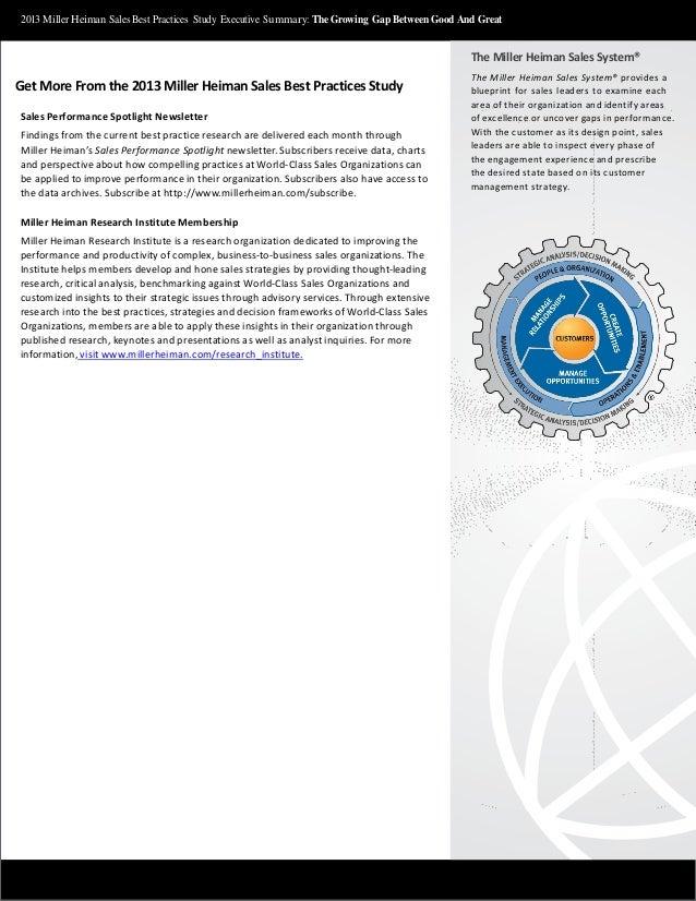 2013 mhi sales best practices study