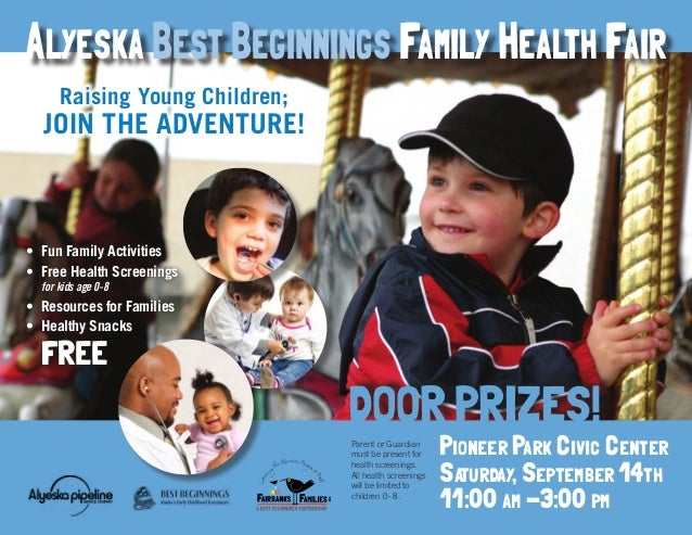 Pioneer Park Civic Center Saturday, September 14th 11:00 am -3:00 pm DOOR PRIZES! Parent or Guardian must be present for h...