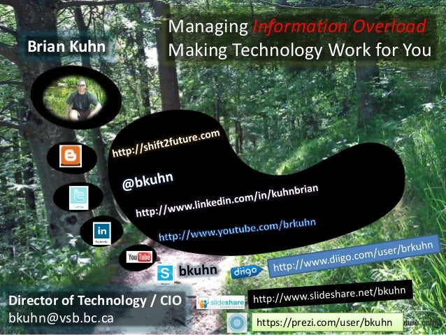 Managing Information Overload   Brian Kuhn            Making Technology Work for YouDirector of Technology / CIObkuhn@vsb....