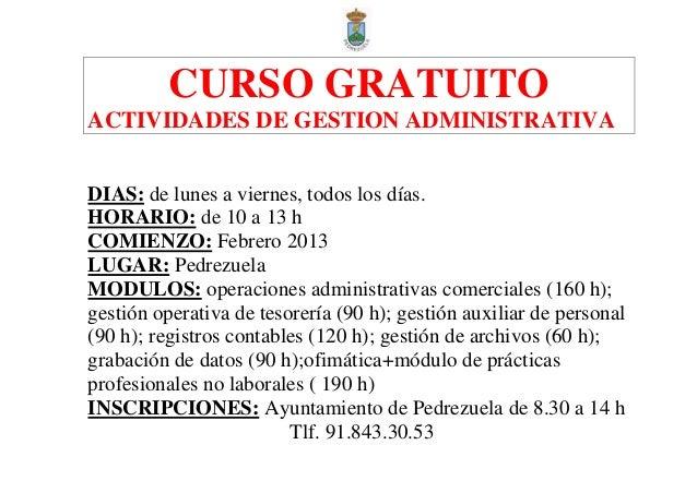 2013 Febrero Curso Actividades De Gestión Administrativa