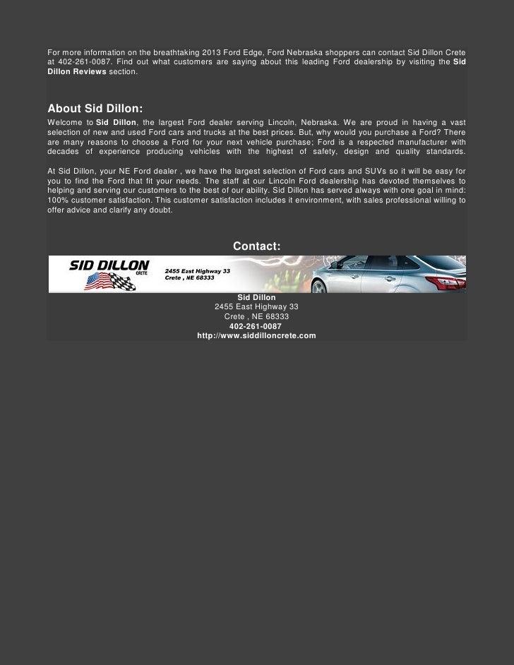 Sid Dillon Auto Group New Used Car Dealers Nebraska