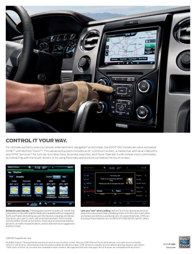 Sync Services Subscription >> 2013 Ford F-150 Brochure WA | Kent Ford Dealer