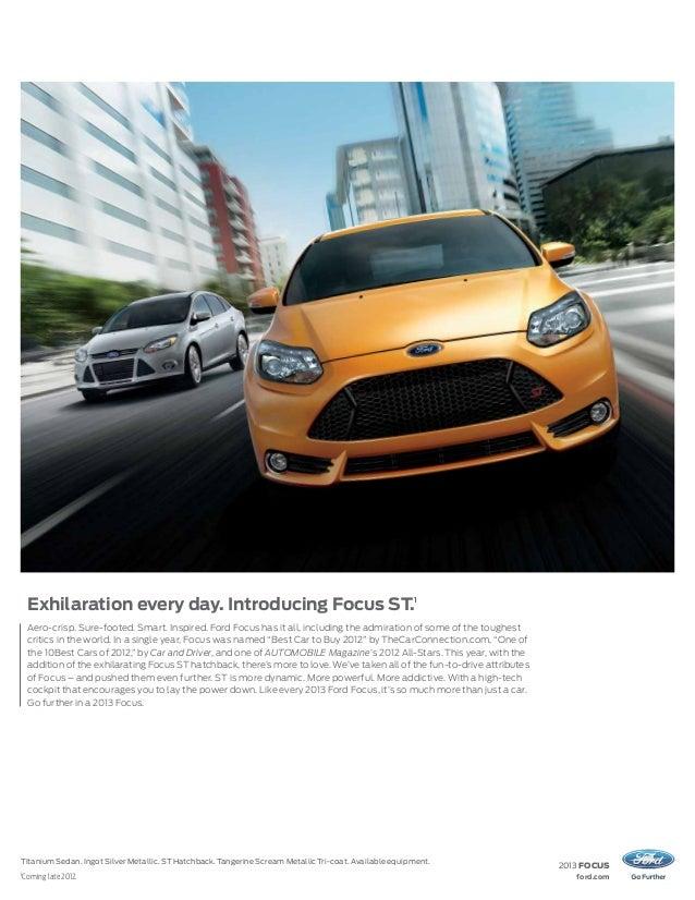 3.  sc 1 st  SlideShare & 2013 Ford Focus Brochure WA | Kent Ford Dealer markmcfarlin.com