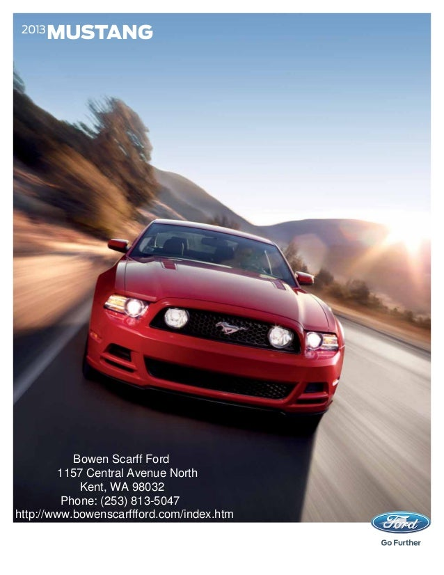 Ford Mustang Brochure WA Kent Ford Dealer - Bowen scarff car show