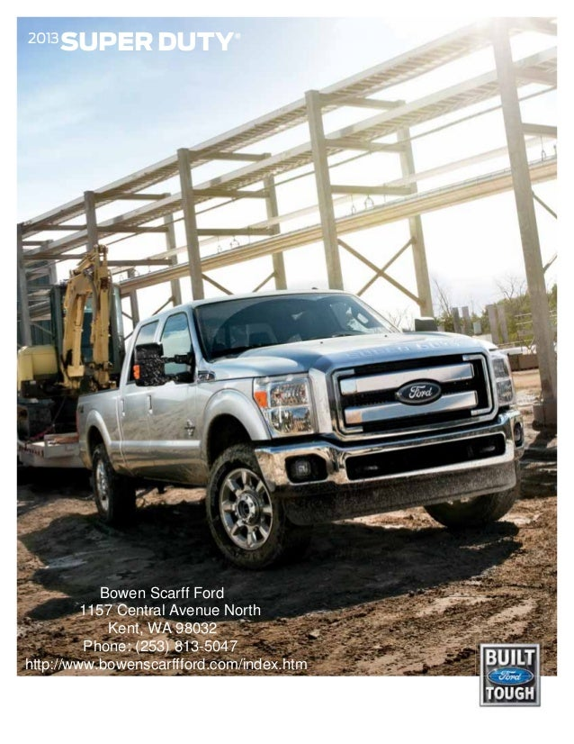 Ford Super Duty Brochure WA Kent Ford Dealer - Bowen scarff car show