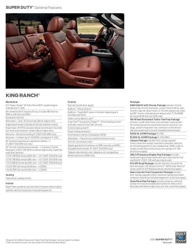 2013 Ford Super Duty Brochure Wa Kent Ford Dealer