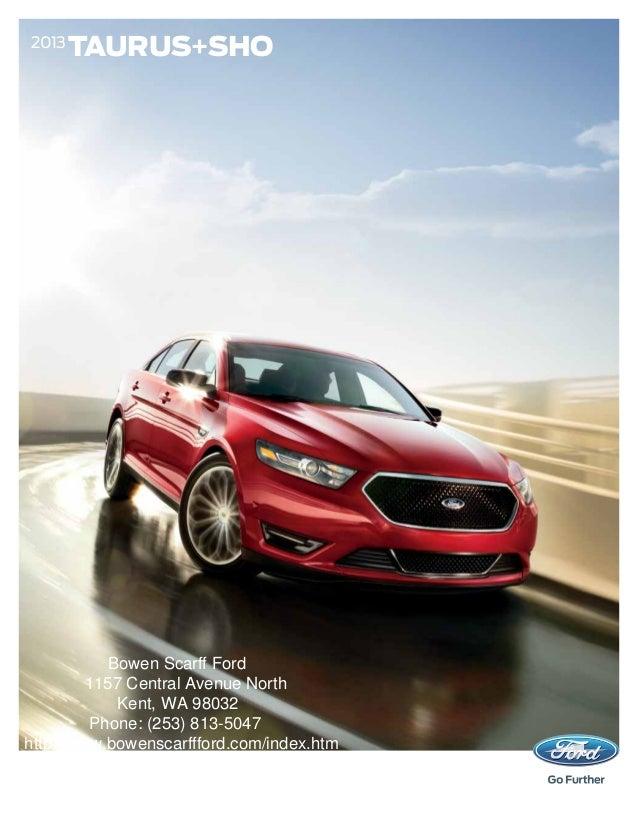 2013 TAURUS+SHO Bowen Scarff Ford 1157 Central Avenue ... & 2013 Ford Taurus Brochure WA | Kent Ford Dealer markmcfarlin.com