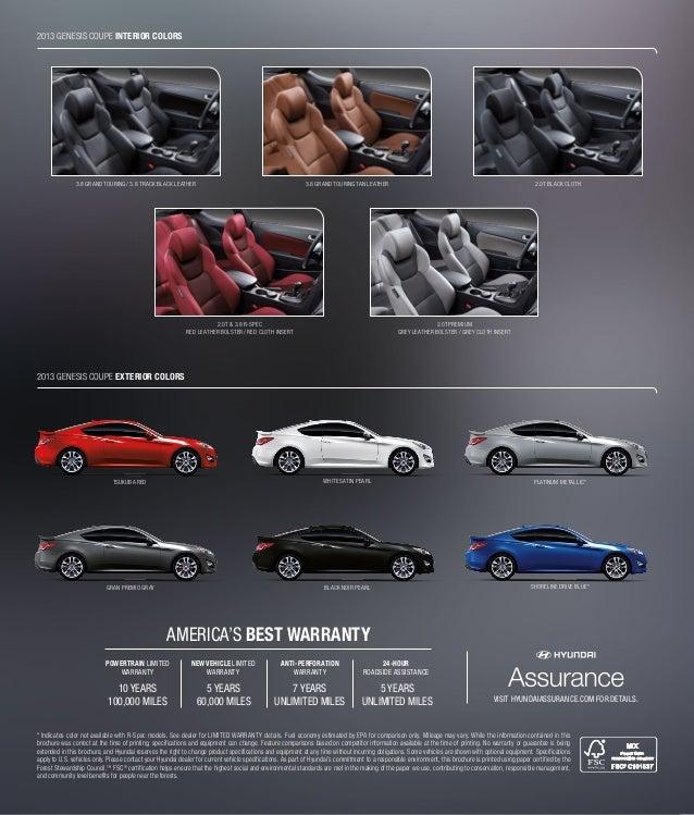 2013 Hyundai Genesis Coupe Brochure Glenbrook Hyundai