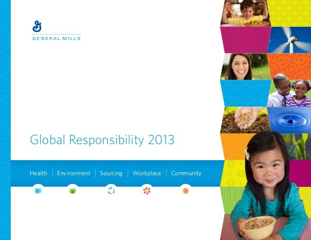 Global Responsibility 2013Health Environment Sourcing Workplace Community