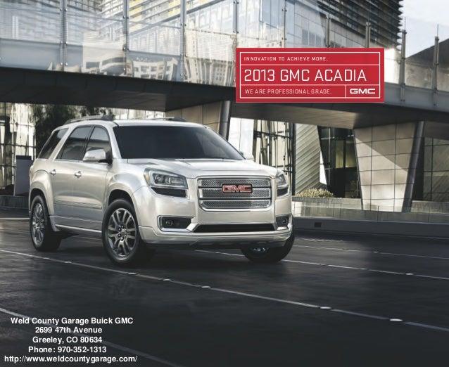 Greeley Car Dealerships >> 2013 Gmc Acadia Brochure Greeley Gmc Dealer
