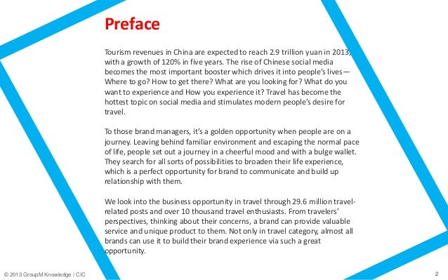CIC and GroupM China released 2013 White Paper on Travellers - The Rise of Social Travel Slide 2
