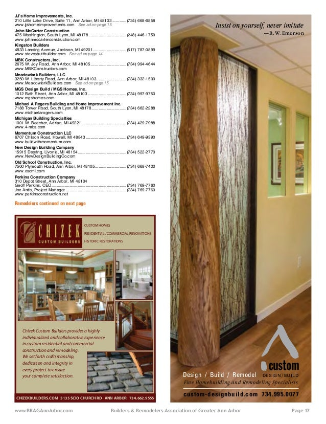 Homeowners Guide To Builders Remodelers And Services 2013